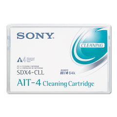 Sony SDX4CL Ait4 8Mm Cleaning Cartridge, 50 Uses