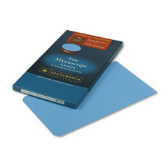 Southworth 41S 25% Cotton Manuscript Covers, Blue, 30 Lbs., Wove, 9 X 15-1/2, 100/Box