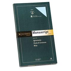 Southworth - 25% cotton fine manuscript covers, 30 lbs., 9 x 15-1/2, blue, 100/box, sold as 1 bx