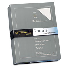 Southworth - granite specialty paper, 24 lbs., 8-1/2 x 11, gray, 500/box, sold as 1 bx