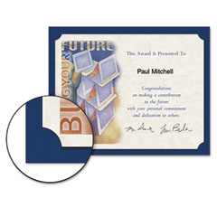 Southworth - certificate holder, 12 x 9-1/2, navy, 10/pack, sold as 1 pk