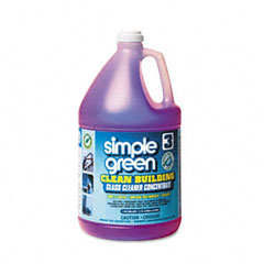 Simple Green SPG11301 Clean Building Glass Cleaner Concentrate, Unscented, 1 gal. Bottle