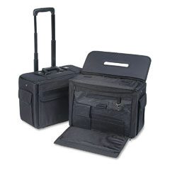 Stebco 261710BLK Rolling Catalog/Computer Case, Nylon, 18 X 8 X 13, Black