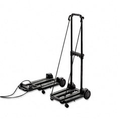 Stebco STB390006BLK Three-Way Luggage/Dolly Cart, 150lb Cap, 18-3/4 x 10 Platform, Black