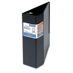"STW 29061 Quick Fit D-Ring Binder, 4"" Capacity, Black"