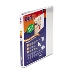 "STW 87000 Quick Fit D-Ring View Binder, 1/2"" Capacity, White"