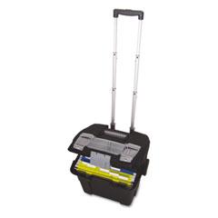 Storex - premium file cart, 16-3/8w x 17d x 15h, black, sold as 1 ea