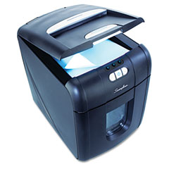 Swingline - ex100-07 cross-cut shredder, 100 sheet capacity automatic feed, sold as 1 ea