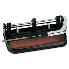 Swingline - 40-sheet heavy-duty lever action two- to seven-hole punch, 11/32 holes, sold as 1 ea