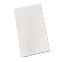 Tablemate - bio-degradable plastic table cover, 54-inch x 108-inch, 6/pack, white, sold as 1 pk