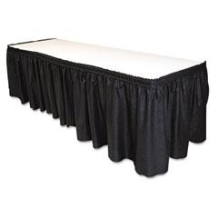 "Tablemate LS2914BK Table Set Linen-Like Table Skirting, 29"" X 14', Black"