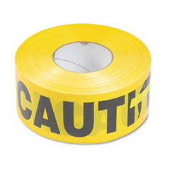 Tatco 10700 Caution Barricade Safety Tape, Yellow, 3W X 1,000 Ft. Roll