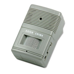 Tatco 15300 Visitor Arrival/Departure Chime, Battery Operated, 2-3/4W X 2D X 4-1/4H, Gray