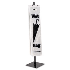 Tatco 57019 Wet Umbrella Stand, 10W X 10D X 40H, Powder Coated Steel, Black