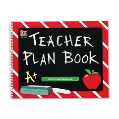 Teacher Created Resources 2093 Plan Book, Spiral-Bound, 9-1/2 X 12, 96 Pages