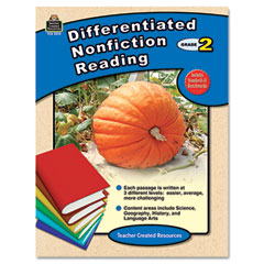 Teacher created resources - differentiated nonfiction reading, grade 2, 96 pages, sold as 1 ea