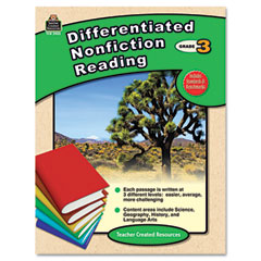 Teacher created resources - differentiated nonfiction reading, grade 3, 96 pages, sold as 1 ea