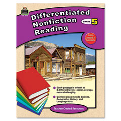 Teacher created resources - differentiated nonfiction reading, grade 5, 96 pages, sold as 1 ea