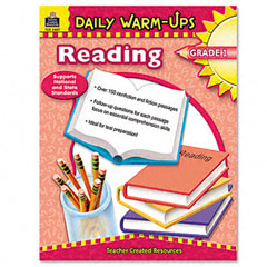Teacher created resources - daily warm-ups: reading, grade 1, paperback, 176 pages, sold as 1 ea