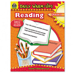 Teacher created resources - daily warm-ups: reading, grade 3, paperback, 176 pages, sold as 1 ea