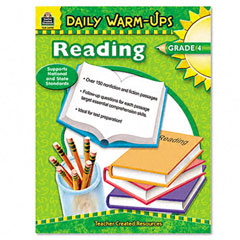 Teacher created resources - daily warm-ups: reading, grade 4, paperback, 176 pages, sold as 1 ea