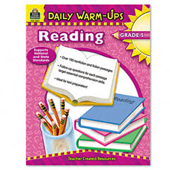 Teacher created resources - daily warm-ups: reading, grade 5, paperback, 176 pages, sold as 1 ea