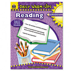 Teacher created resources - daily warm-ups: reading, grade 6, paperback, 176 pages, sold as 1 ea
