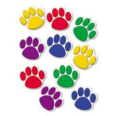 Teacher created resources - paw print accents, assorted colors, sold as 1 st