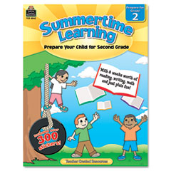 Teacher created resources - summertime learning, reading, writing, math, grade 2, 112 pages, sold as 1 ea