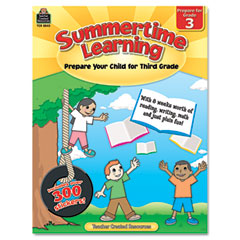 Teacher created resources - summertime learning, reading, writing, math, grade 3, 112 pages, sold as 1 ea