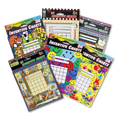 Teacher created resources - individual incentive charts, 5-1/4 x 6, 6 designs, 36/each, 216/pack, sold as 1 pk