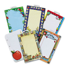 Teacher Created Resources 9032 Notepad Set, School Theme, 6 50-Sheet Pads/Set