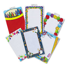 Teacher Created Resources 9033 Notepad Set, School/Seasonal Theme, 6 50-Sheet Pads/Set