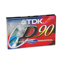 Tkd Electronics TDK20100 Standard Size Audio Cassette, Normal Bias, 90 Minutes (45 x 2)