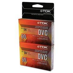 Tdk - superior grade dvc camcorder videotape cassette, 60 minutes, 2/pack, sold as 1 pk