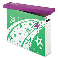 Trend - file ?????????n save system chart storage box, 30-3/4 x 23 x 6-1/2, bright stars design, sold as 1 ea