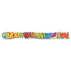 Trend - quotable expressions wall banner, you are responsible for you, 10 ft, sold as 1 pk