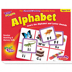 Trend - alphabet match me puzzle game, ages 4-7, sold as 1 ea