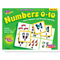 Trend - numbers 0-10 match me puzzle game, ages 3-6, sold as 1 ea