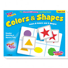 Trend - colors and shapes match me puzzle game, ages 4-7, sold as 1 ea