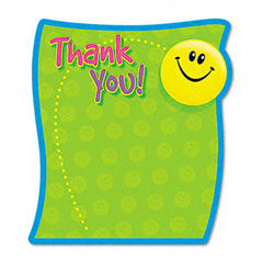 Trend - thank you note pad, 5 x 5, 50 sheets/pad, sold as 1 ea