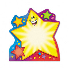 Trend - note pad w/super star design, 5 x 5, 50 sheets/pad, sold as 1 ea