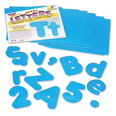Trend - ready letters casual combo set, blue, 4-inchh, 182/set, sold as 1 st