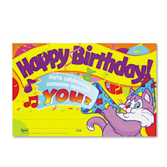Trend - recognition awards, happy birthday!, 8-1/2w x 5-1/2h, 30/pack, sold as 1 pk