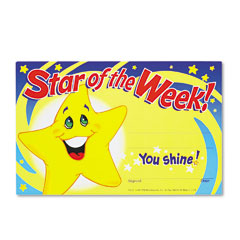 Trend - recognition awards, star of the week!, 8-1/2w x 5-1/2h, 30/pack, sold as 1 pk