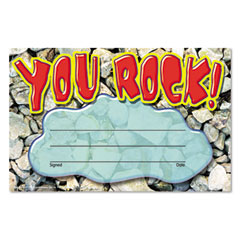 Trend - recognition awards, you rock, 8 1/2w by 5 1/2h, 30/pack, sold as 1 pk