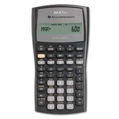 Texas instruments - baiiplus financial calculator, 10-digit lcd, sold as 1 ea