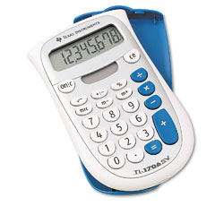 Texas instruments - ti-1706sv handheld pocket calculator, 8-digit lcd, sold as 1 ea