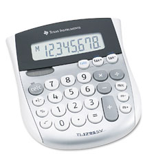 Texas instruments - ti-1795sv minidesk calculator, 8-digit lcd, sold as 1 ea