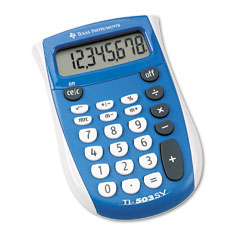 Texas instruments - ti-503sv pocket calculator, 8-digit lcd, sold as 1 ea